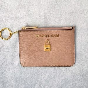 Michael Kors Adele Fawn Leather Coinpouch with ID